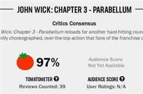 《疾速追杀3》烂番茄新鲜度高达97% 媒体称赞为